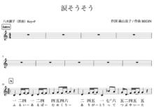 「涙そうそう」練習用カラオケ音源アップしました。